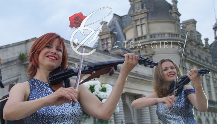 duo de violon chateau chantilly wedding mariage de luxe